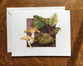 Turtle and Swiss Chard Card