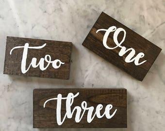 Rustic and Elegant Wood Wedding Table Number -  Single Number - Wildwood Weddings