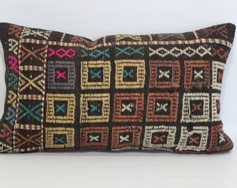 turkish kilim pillow 16x26 anatolian turkish decorative kilim pillow anatolian kilim pillow sofa pillow home decor kilim pillow  SP4060-692