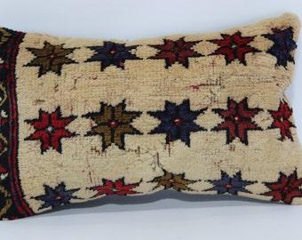 12x20 Bohemian Carpet Pillow Sofa Pillow Ethnic Pillow 12x20 Handwoven Rug Pillow Sofa Pillow Home Decor Cushion Cover SP3050-781