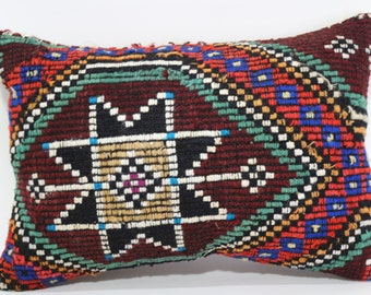 16x24 Handwoven Embroidered Kilim Pillow Ethnic Pillow Cover Case 16x24 Decorative Kilim Pillow Naturel Kilim Pillow Sofa Pillow  SP4060-294