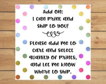 Print and Ship Add On!