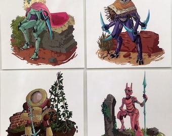 Adventure Bots - postcard pack