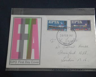 Royal mail stamps FDC  EFTA  DATED 1967