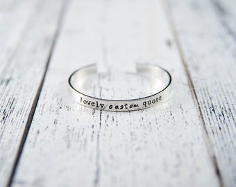 Custom bracelet, personalized cuff, cuff bracelet, quote bracelet, quote bracelet cuff, custom quote cuff, name bracelet, mothers day gift