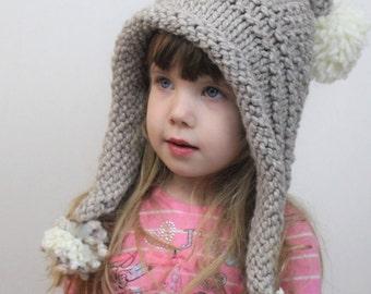 Knitting pattern, Patron de tricot –Eva Bonnet Pixie  Beanie Hat  Beret (12/18 month - Toddler - Child – Teen- Adult sizes)