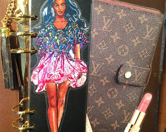 Runway Fashionista in her Floral Dress Bookmark page laminate- stunning!