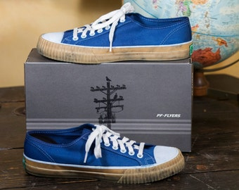 Indigo Dyed PF Flyers Center Lo Lo-Top Sneakers with Gum Sole