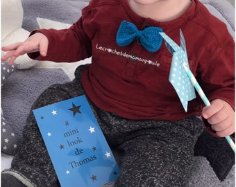 Bowtie babyboy 7cm & more age {over 50 colors to choose from}