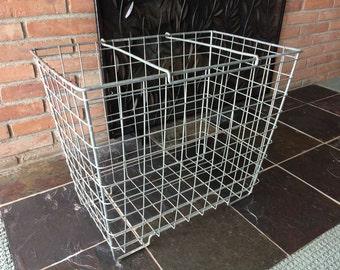 Extra-Large Industrial Metal Basket//Galvanized Wire Basket//Vintage Storage