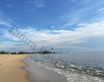 Lighthouse Beach 5x7 Photo w 8x10 Mat