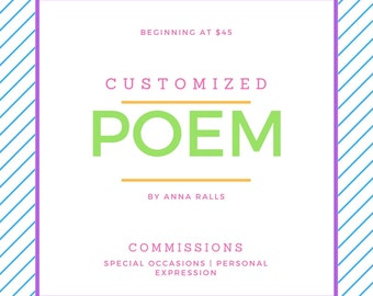Customized Poetry Commission