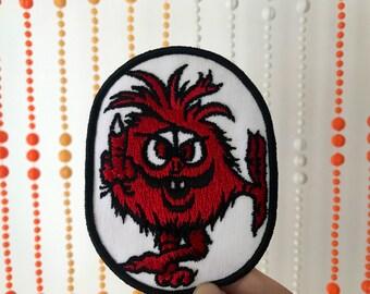 Vintage Middle Finger Red Monster Patch