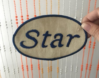 Large Vintage Star Nametag Patch