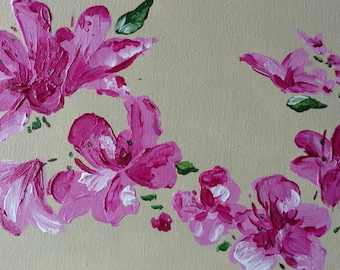 Custom Painting, Flower Painting, Flower Art, Flower Artwork, Custom Art, Painting, Nature Art, Nature Painting, Acrylic Painting, Wall Art
