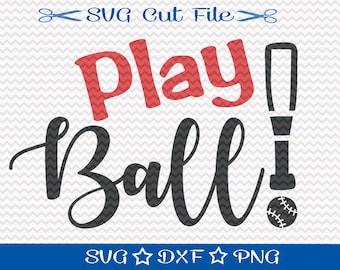 Play Ball SVG Cut File / Baseball SVG File / Sports Svg / Softball SVG File / Baseball Player svg / Spring Training svg / Baseball Mom Svg
