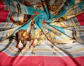 "LANCEL ""Lancel Polo Cup Deauville"" Lancel scarf silk"