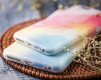 Coque iPhone 6 plus Coque iPhone 6s plus - Rêve d'Aquarelle - Vintage Rose - Aquarelle - ultra slim - Mat