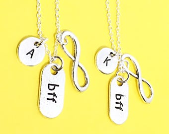 2Best friends necklace, bff set of 2, bff necklace, bff infinity necklace, friend necklace, friends, bff charm necklace,best friends forever