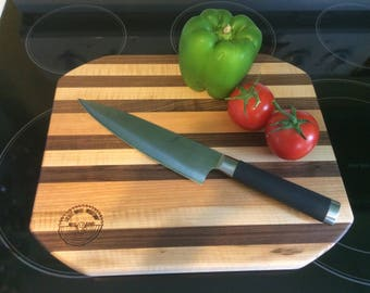 Maple, Walnut and Cherry Large Cutting Board