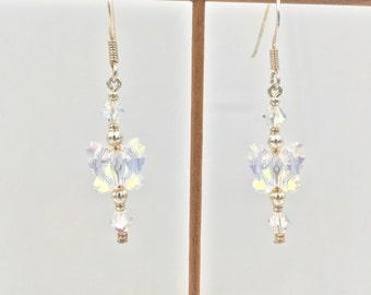 Earrings in silver and Swarovski Elements