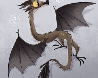 Norbert the Dragon Print