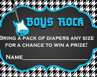 Rock A Bye Baby Diaper Raffle Cards
