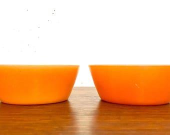 Vintage Federal Cereal Bowls / Federal Orange Cereal Bowls / Set of 2