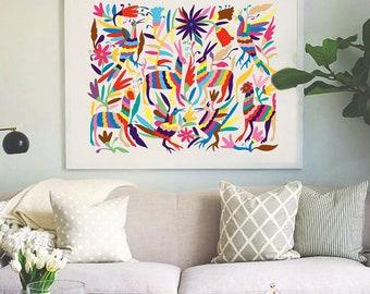 Otomi Home Decor, Big Size Print, Otomi Printable Art, Mexican Otomi Decor, Otomi Print, Otomi Download, 11x14, 16x20, 20x26