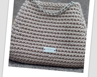 Large handbag; Crochet bag; Knitted bag; Fashion bag; Hobo bag; Pastel bag; Woven bag; Luxury bag; Handbag for women; Knit handbag
