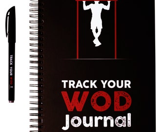 Track Your WOD Journal - The Ultimate Cross Training WOD Tracking Journal. 6x9 Hardcover, pen included. Wods, benchmarks, Girls + Hero, PR