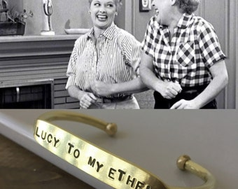 Lucy To My Ethel | Ethel To My Lucy | I love lucy | Best Friends | Famous Best Friends | Gift for bestfriend | Bestie Bracelets
