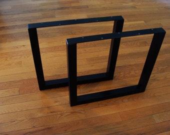 Table legs, steel tubing, metal, heavy duty, industrial, slab, legs, square,
