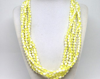Vintage Estate Yellow And White Gold Tone Necklace