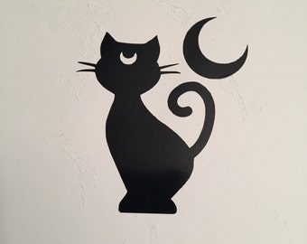 Sailor Moon Luna and Moon Vinyl Decal