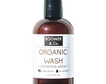 Bourbon & Sandalwood Body Wash/Shampoo
