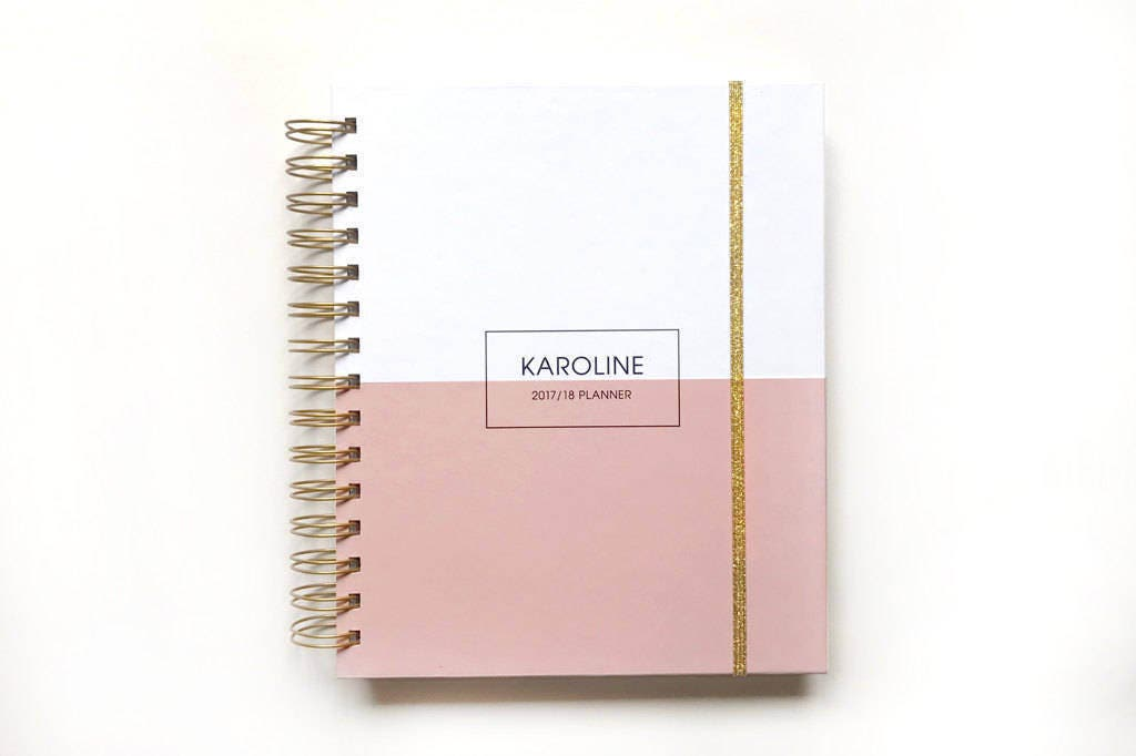 2018 Personalized Planner 2018 Planner 2018 Monthly Planner