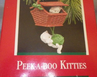 Hallmark Keepsake Peek A Boo Kitty ornamanent