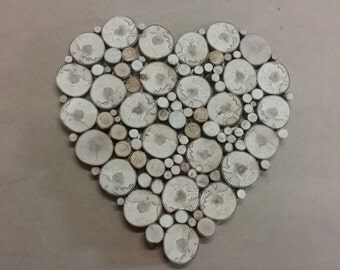 Wood slices heart