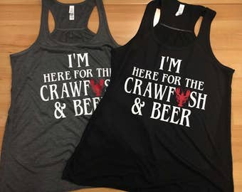 I'm Here for the Crawfish & Beer - Womens Tank