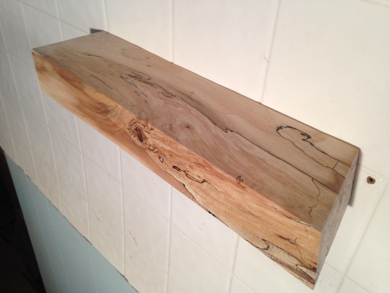 spalted wood shelves floating shelves floating wood shelf. Black Bedroom Furniture Sets. Home Design Ideas