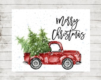 Truck and tree | Etsy