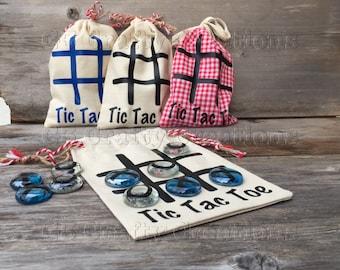 Tic Tac Toe game, travel game, stocking stuffer, Easter basket stuffer, gift for child