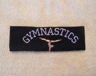 Custom embroidered Gymnastics head band