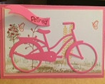Retirement Bicycle Card