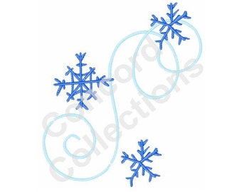 Snowflake Swirls Machine Embroidery Design