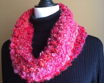 Red Scarf, Crochet Cowl, Red Cowl Neck, Red Neck Warmer