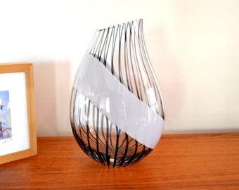 Rare Seguso Murano Signed Glass Vase