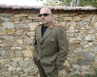 Old Bulgarian officer military uniform jacket pants shirt totalitarian communist