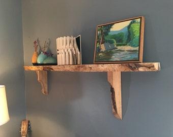 Live Edge Wood Shelf